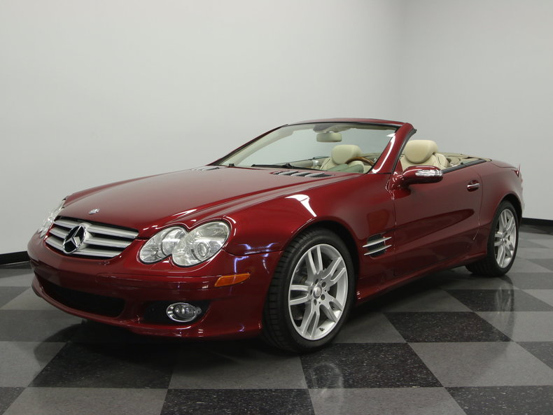 storm red 2008 mercedes benz sl 550 for sale mcg marketplace. Black Bedroom Furniture Sets. Home Design Ideas