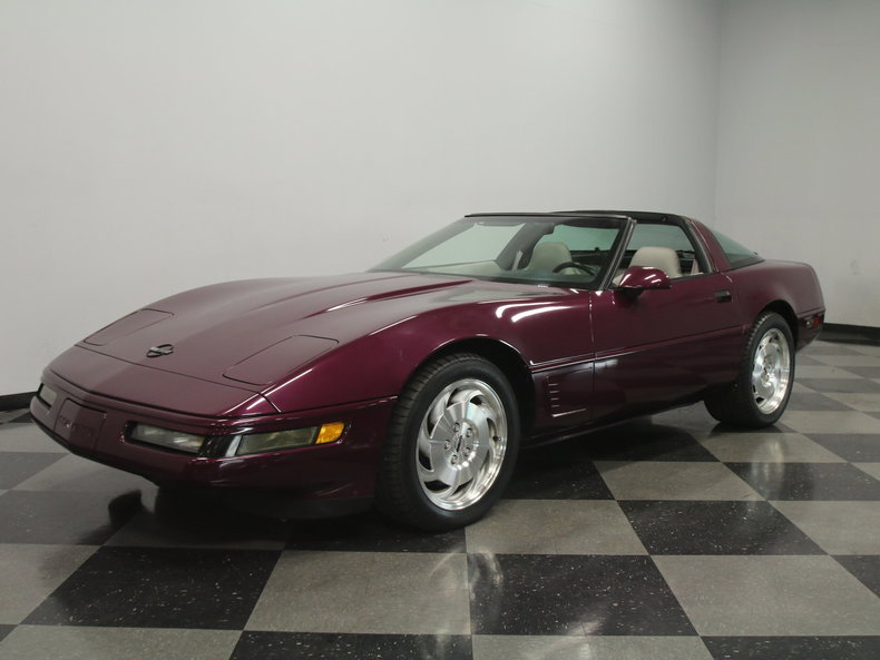 dark purple metallic 1995 chevrolet corvette for sale. Black Bedroom Furniture Sets. Home Design Ideas