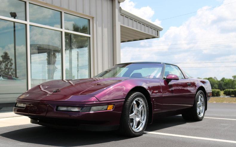 dark purple metallic 1995 chevrolet corvette zr1 for sale mcg marketplace. Black Bedroom Furniture Sets. Home Design Ideas