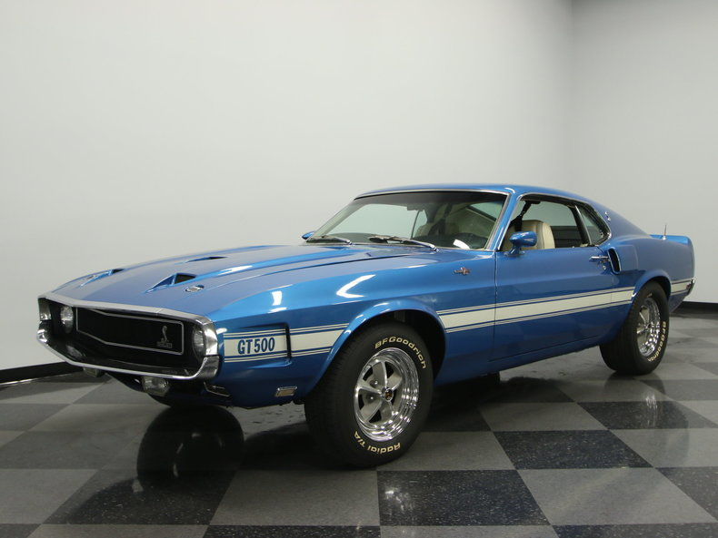 acapulco blue 1969 ford mustang shelby gt500 for sale. Black Bedroom Furniture Sets. Home Design Ideas