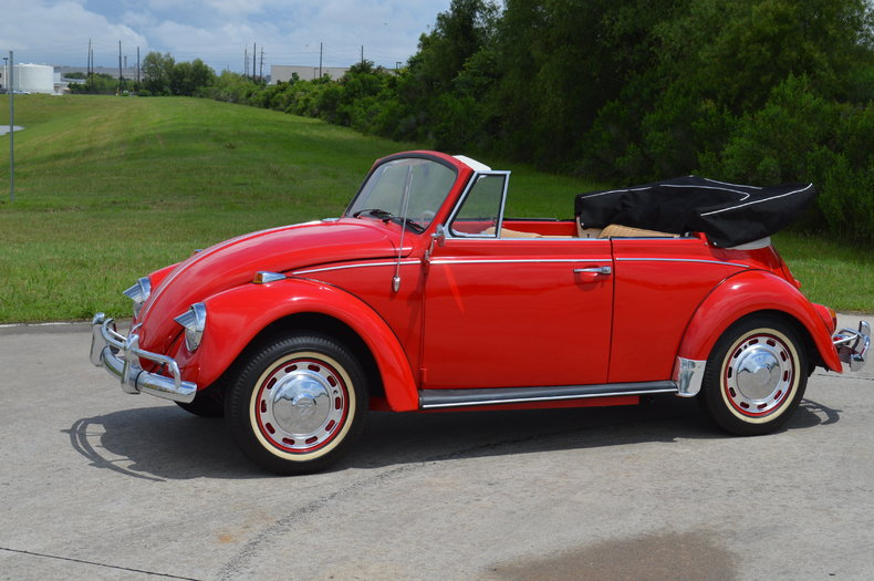 ruby red 1967 volkswagen beetle for sale mcg marketplace. Black Bedroom Furniture Sets. Home Design Ideas
