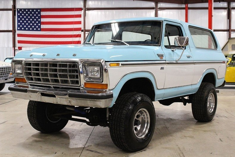 light blue and white 1979 ford bronco for sale mcg marketplace. Cars Review. Best American Auto & Cars Review