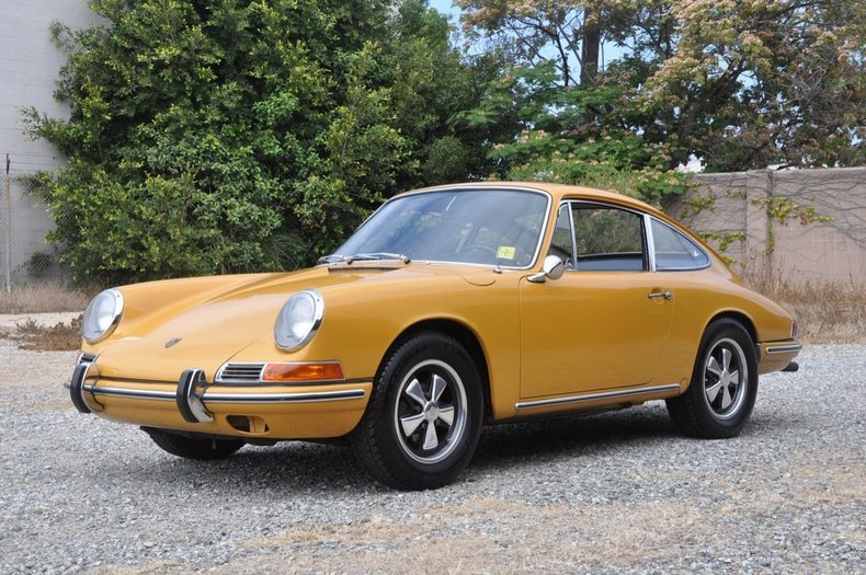 bahama yellow 1967 porsche 911 for sale mcg marketplace. Black Bedroom Furniture Sets. Home Design Ideas