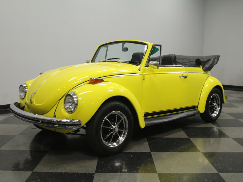 yellow 1971 volkswagen super beetle convertible for sale mcg marketplace. Black Bedroom Furniture Sets. Home Design Ideas