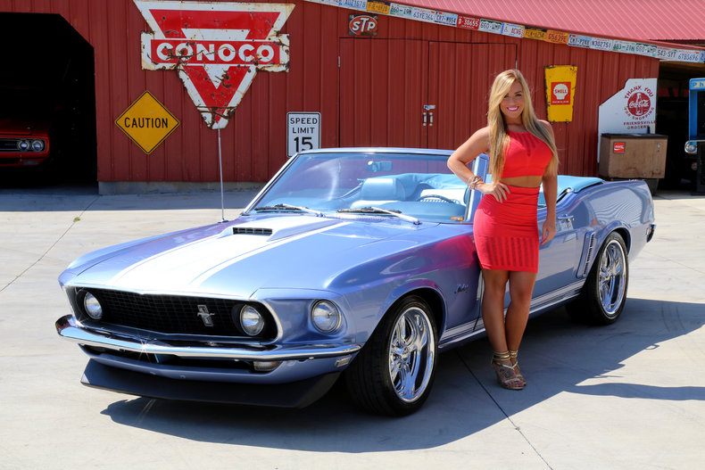 Winter Blue 1969 Ford Mustang For Sale Mcg Marketplace