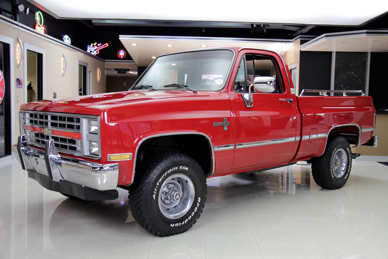 red 1985 chevrolet silverado for sale mcg marketplace. Black Bedroom Furniture Sets. Home Design Ideas