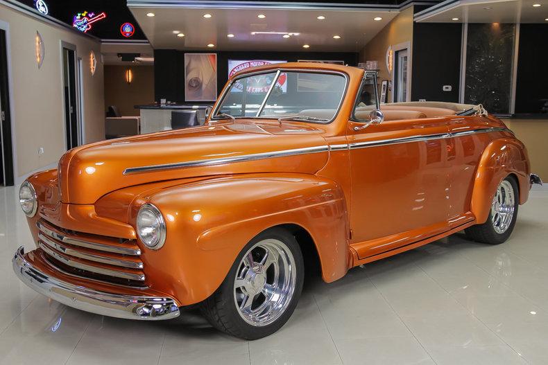 Orange 1946 ford cabriolet for sale mcg marketplace for Garage ford orange