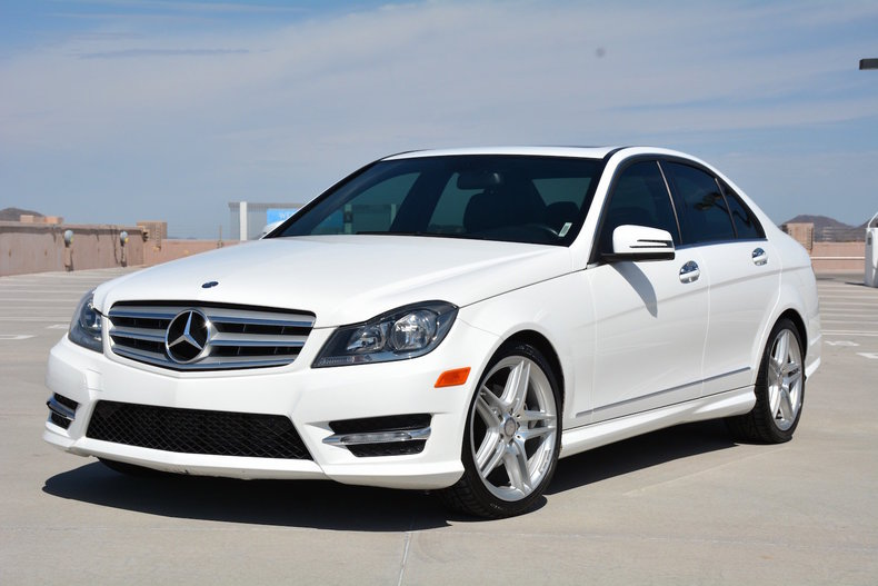 polar white 2013 mercedes benz c250 for sale mcg marketplace. Black Bedroom Furniture Sets. Home Design Ideas