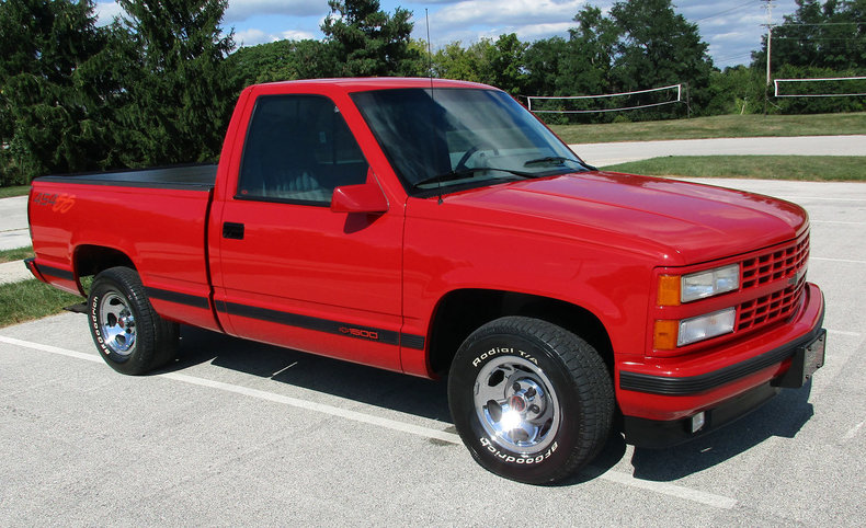 victory red 1993 chevrolet silverado ss 454 for sale mcg marketplace. Black Bedroom Furniture Sets. Home Design Ideas