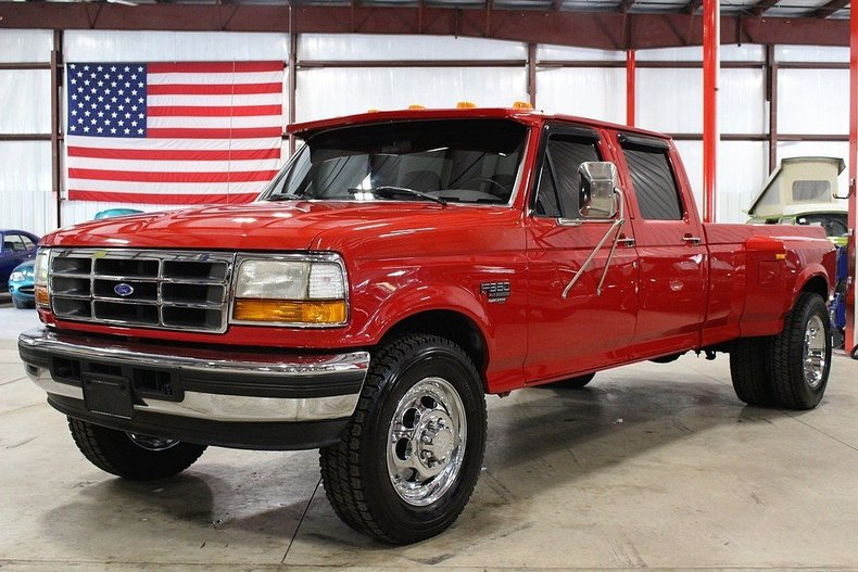 candy apple red 1995 ford f350 for sale mcg marketplace. Black Bedroom Furniture Sets. Home Design Ideas