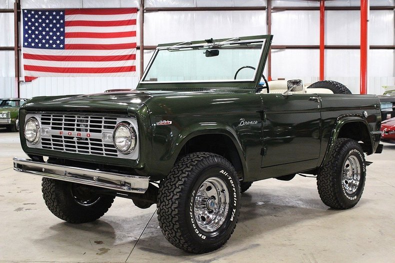 forest green 1966 ford bronco for sale mcg marketplace. Black Bedroom Furniture Sets. Home Design Ideas