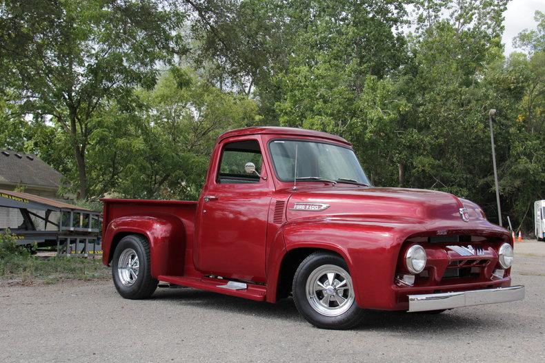 red 1954 ford f100 for sale mcg marketplace. Black Bedroom Furniture Sets. Home Design Ideas