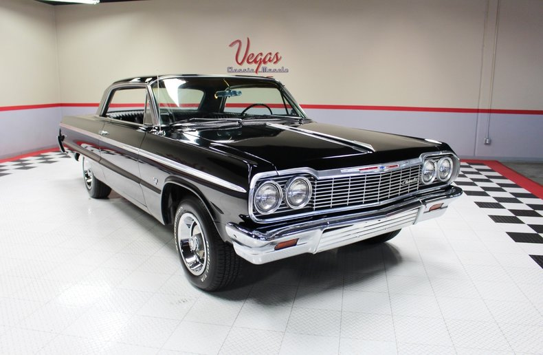 black 1964 chevrolet impala super sport for sale mcg marketplace. Black Bedroom Furniture Sets. Home Design Ideas