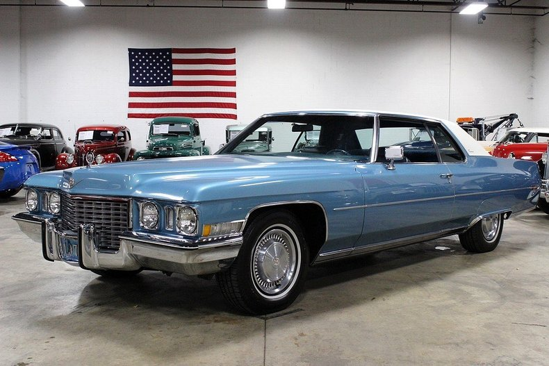 Zodiac Blue 1972 Cadillac Coupe De Ville For Sale Mcg