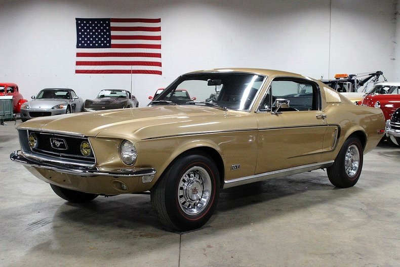 Sunlit Gold 1968 Ford Mustang Fastback For Sale  MCG Marketplace