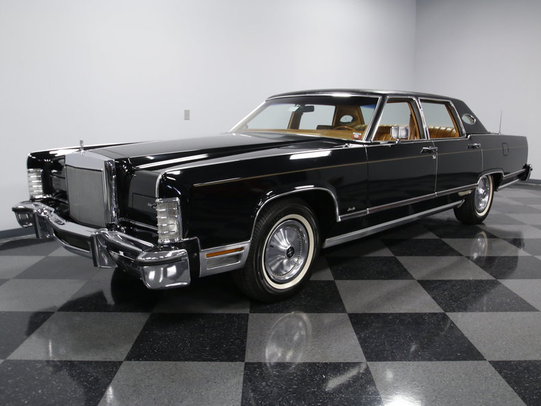 black 1978 lincoln continental town car for sale mcg marketplace. Black Bedroom Furniture Sets. Home Design Ideas