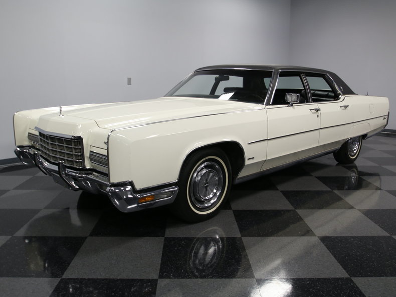 white 1972 lincoln continental town car for sale mcg. Black Bedroom Furniture Sets. Home Design Ideas