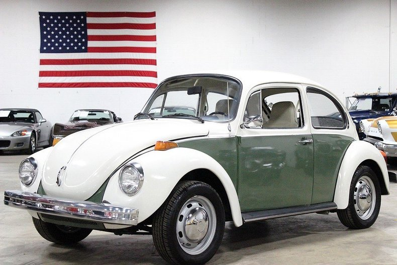 Green white 1974 volkswagen beetle for sale mcg for Garage volkswagen 92