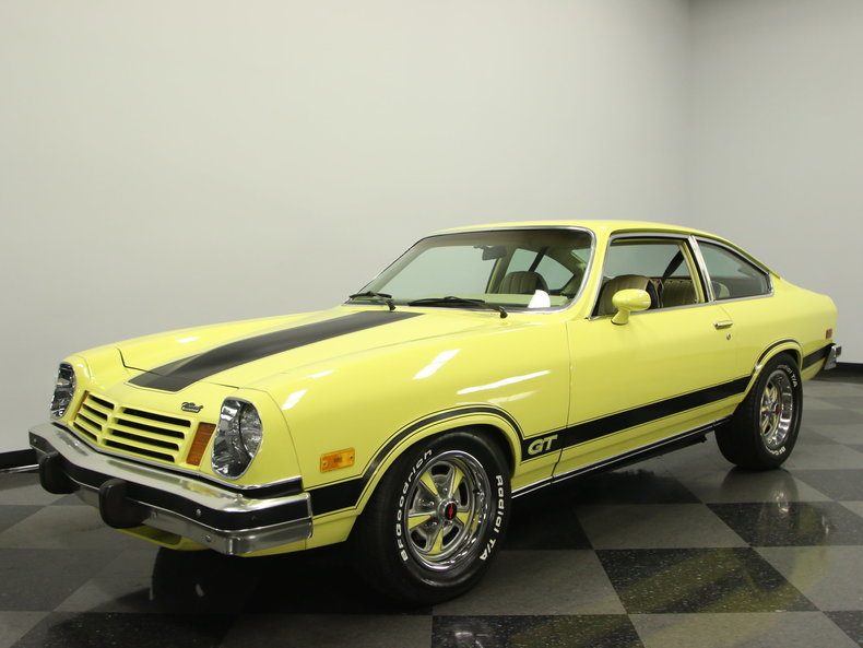bright yellow 1974 chevrolet vega gt for sale mcg. Black Bedroom Furniture Sets. Home Design Ideas
