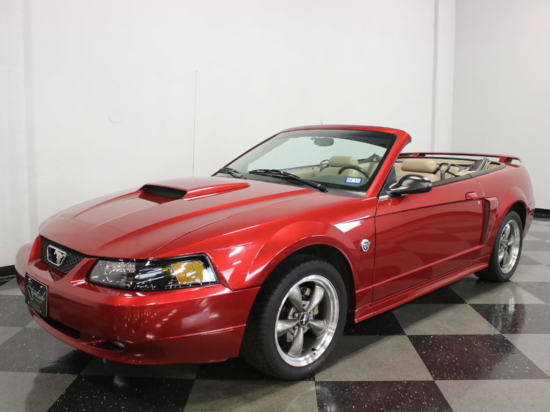 crimson red 2004 ford mustang gt convertible for sale. Black Bedroom Furniture Sets. Home Design Ideas