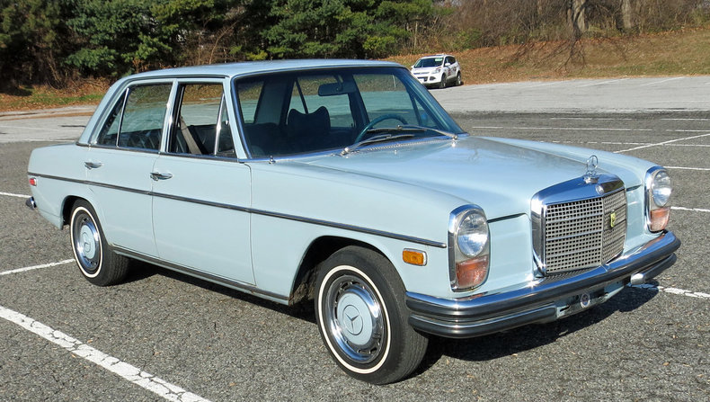 Barrier blue 1971 mercedes benz 250 for sale mcg marketplace for Barrier mercedes benz