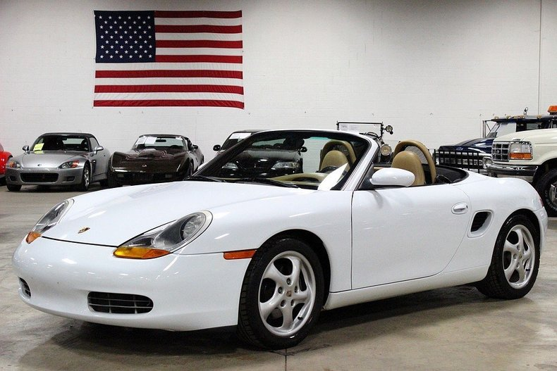 glacier white 1998 porsche boxster for sale mcg marketplace. Black Bedroom Furniture Sets. Home Design Ideas