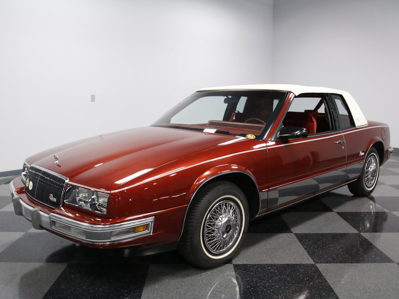 flame red 1986 buick riviera for sale mcg marketplace. Black Bedroom Furniture Sets. Home Design Ideas