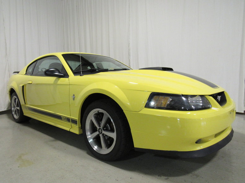 yellow 2003 ford mustang mach 1 for sale mcg marketplace. Black Bedroom Furniture Sets. Home Design Ideas