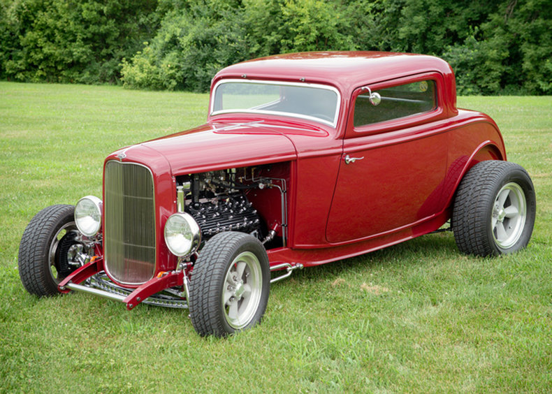 Red 1932 ford 3 window for sale mcg marketplace for 1932 ford 3 window for sale