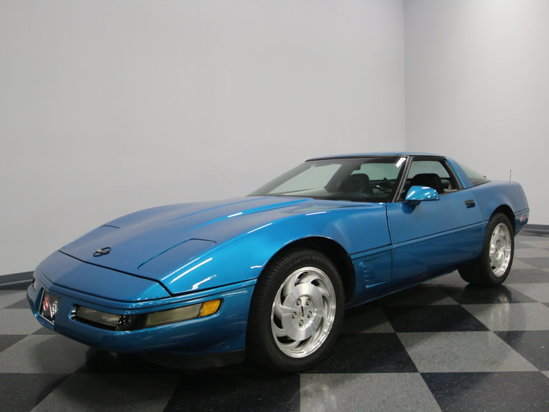bright aqua metallic 1995 chevrolet corvette for sale. Black Bedroom Furniture Sets. Home Design Ideas