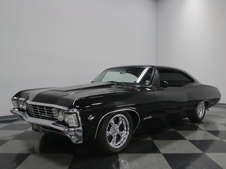 black cherry 1967 chevrolet impala ss for sale mcg. Black Bedroom Furniture Sets. Home Design Ideas