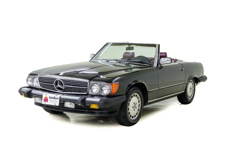 Black 1986 Mercedes Benz 560 Sl For Sale Mcg Marketplace