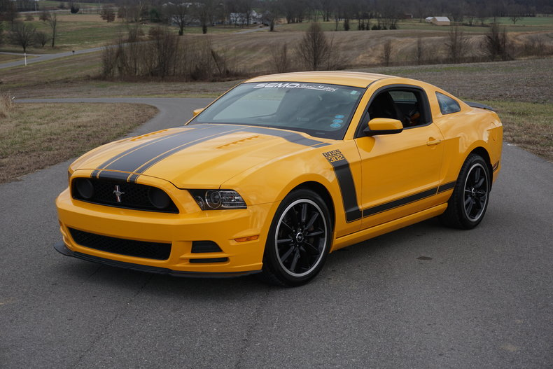 school bus yellow 2013 ford mustang boss 302 for sale mcg marketplace. Black Bedroom Furniture Sets. Home Design Ideas
