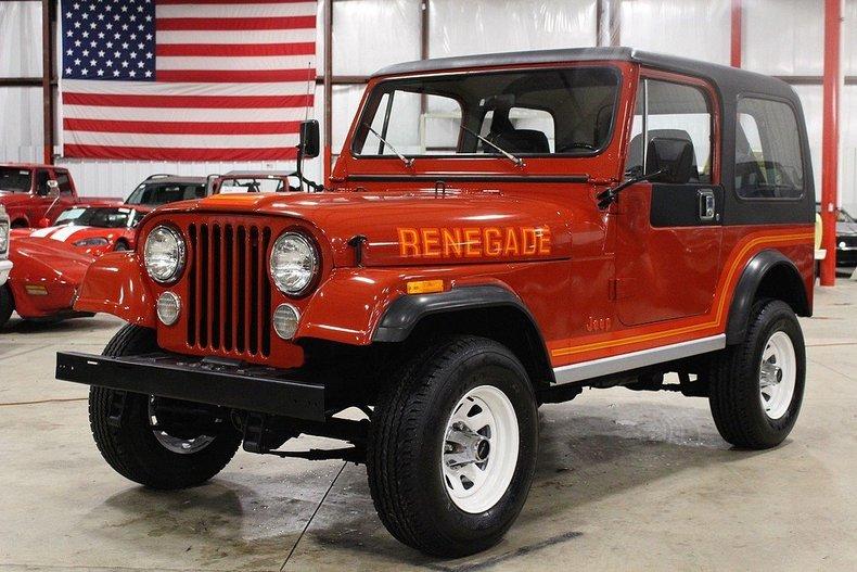 Red orange 1985 jeep cj7 for sale mcg marketplace for Garage auto orange