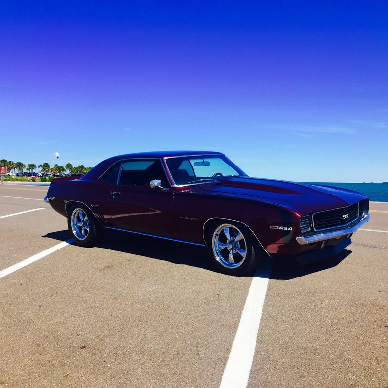 Burgundy 1969 Chevrolet Camaro Rs Ss For Sale Mcg