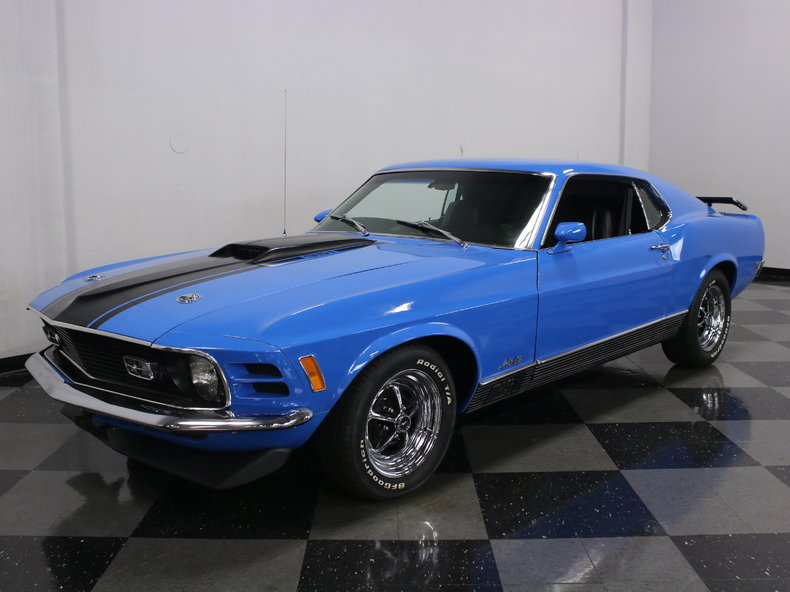 Grabber Blue 1970 Ford Mustang Mach 1 For Sale  MCG Marketplace