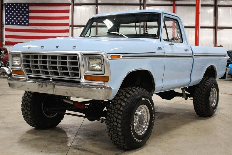 Light blue 1978 ford f150 for sale mcg marketplace for Garage ford 78 plaisir