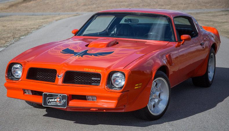 Orange 1976 pontiac trans am for sale mcg marketplace for Garage auto orange