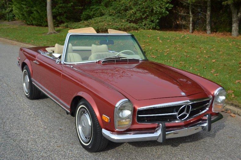 Brilliant red 1969 mercedes benz 280 sl pagoda for sale for Mercedes benz 280sl pagoda for sale