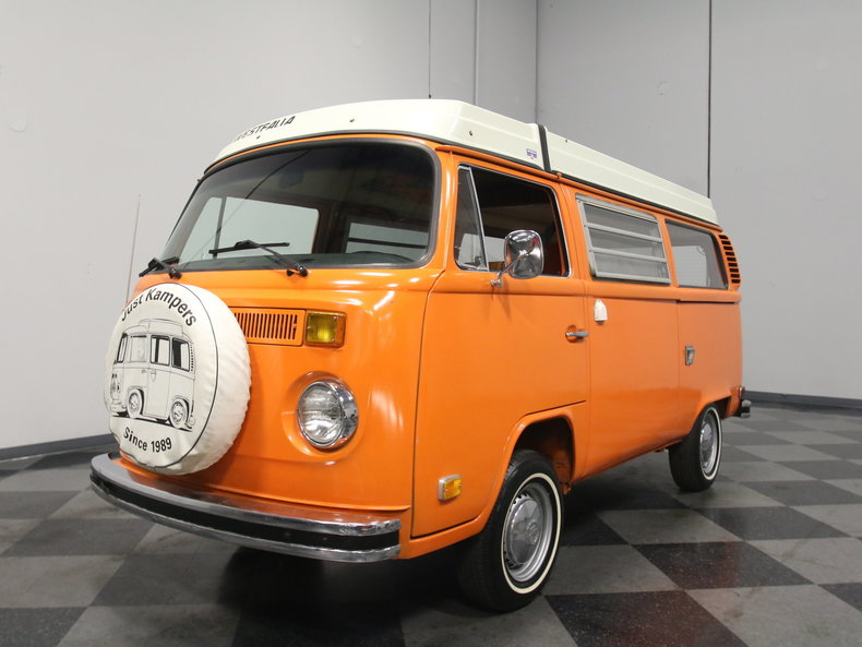 Orange 1975 Volkswagen Westfalia Camper For Sale | MCG Marketplace