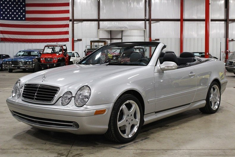 brilliant silver 2002 mercedes benz clk430 for sale mcg marketplace. Black Bedroom Furniture Sets. Home Design Ideas