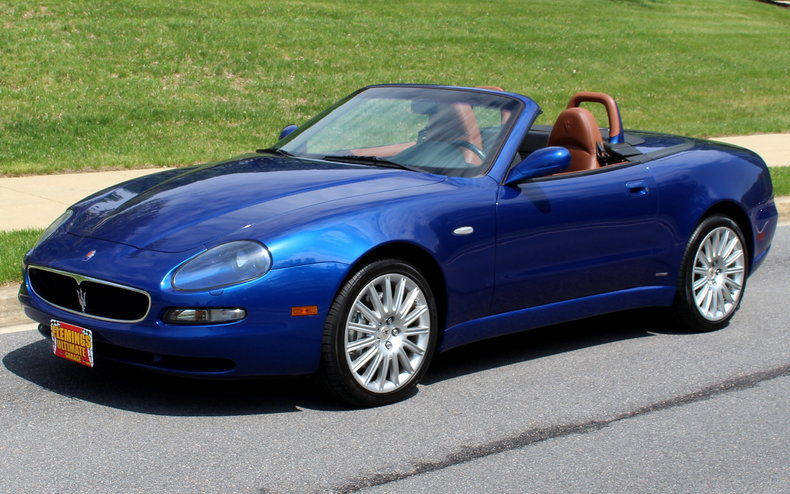 mediterranean blue 2002 maserati spyder for sale mcg. Black Bedroom Furniture Sets. Home Design Ideas