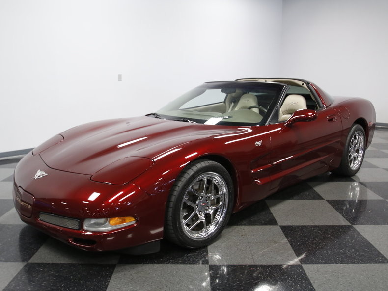 50th anniversary red 2003 chevrolet corvette 50th anniversary for sale mcg marketplace. Black Bedroom Furniture Sets. Home Design Ideas