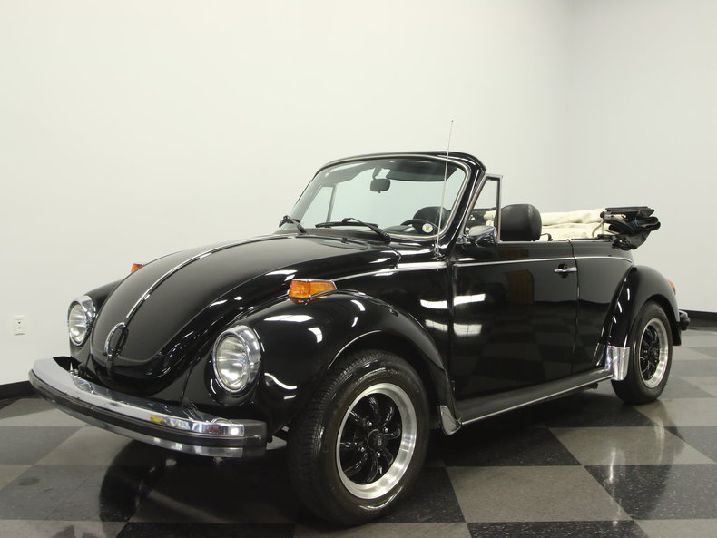 black 1979 volkswagen super beetle convertible for sale mcg marketplace. Black Bedroom Furniture Sets. Home Design Ideas