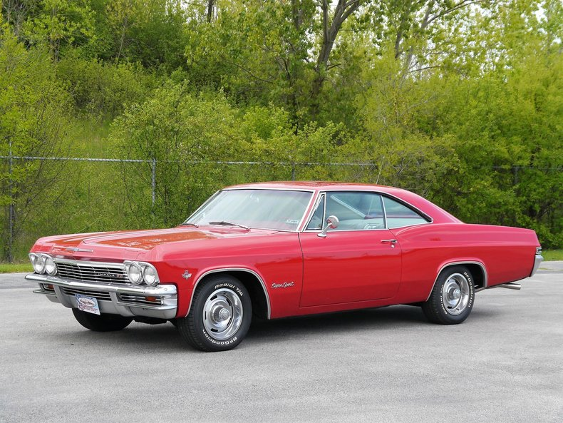 red 1965 chevrolet impala ss for sale mcg marketplace. Black Bedroom Furniture Sets. Home Design Ideas