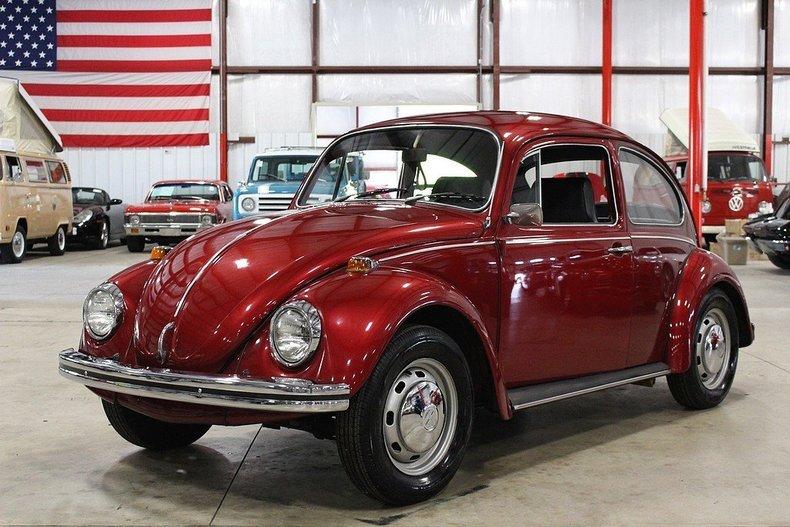 red 1968 volkswagen beetle for sale mcg marketplace. Black Bedroom Furniture Sets. Home Design Ideas