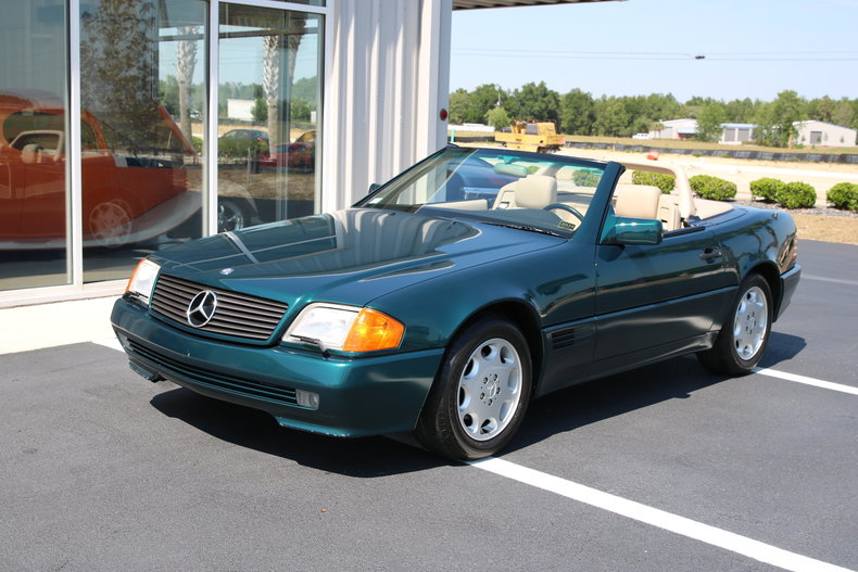 Green metallic 1994 mercedes benz sl500 for sale mcg for Mercedes benz sl500 for sale