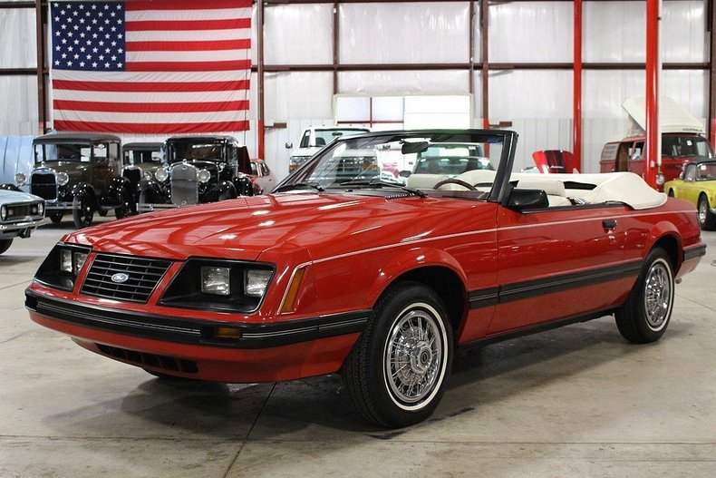 red 1983 ford mustang for sale mcg marketplace. Black Bedroom Furniture Sets. Home Design Ideas