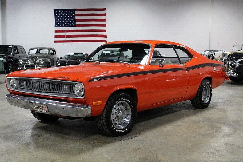 1972 Plymouth Duster Classic Muscle Car For Sale In Mi: Orange 1972 Plymouth Duster For Sale
