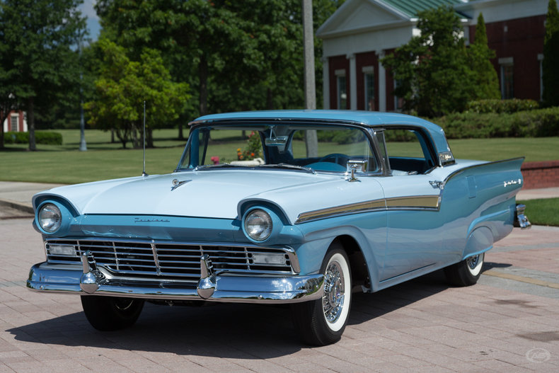 starmist blue 1957 ford fairlane 500 for sale mcg marketplace. Black Bedroom Furniture Sets. Home Design Ideas